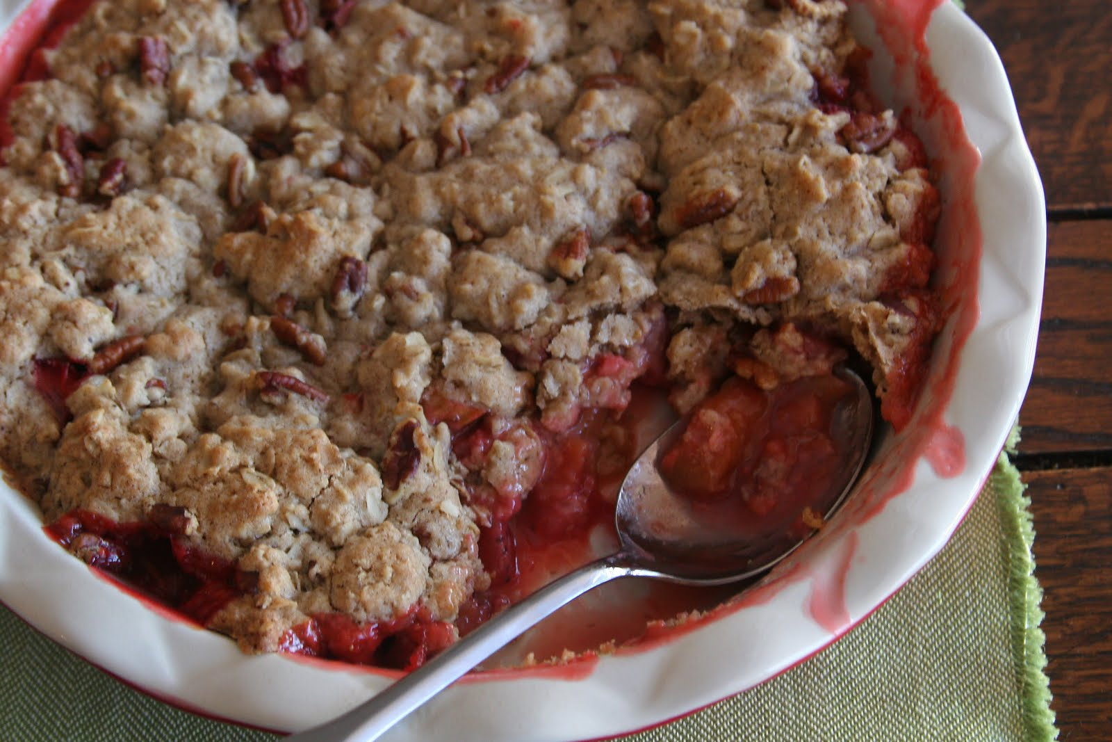 Strawberry-Rhubarb Cobbler - Espresso and CreamEspresso and Cream