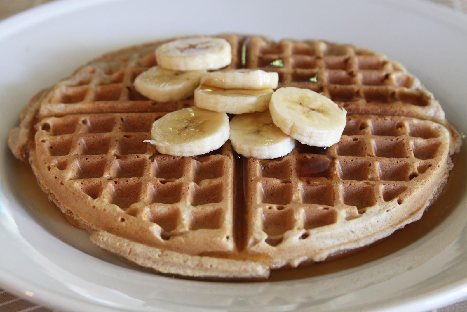 Whole Wheat Waffles with Banana | Espresso and Cream