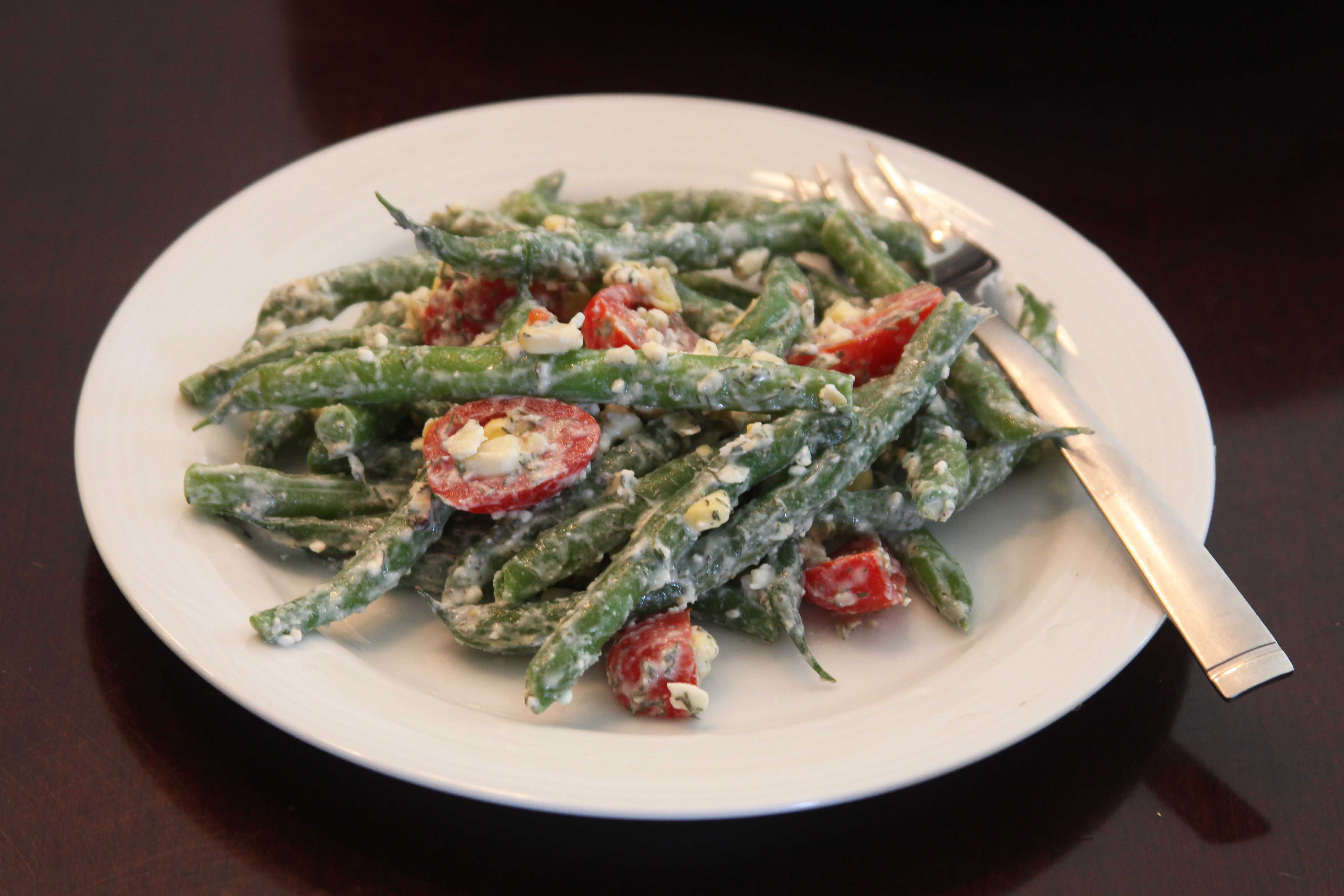 Green Bean, Corn and Tomato Salad with Feta Dressing | Espresso and ...