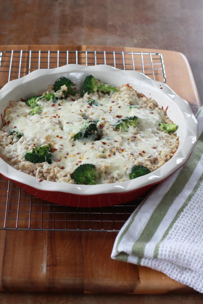 Cheesy Farro Broccoli Bake 1 | Espresso and Cream