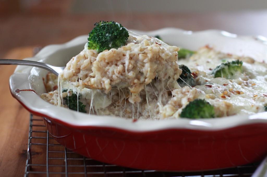Cheesy Farro Broccoli Bake 2 | Espresso and Cream