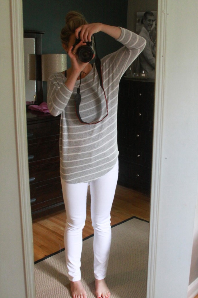 Stitch Fix White Jeans | Espresso and Cream