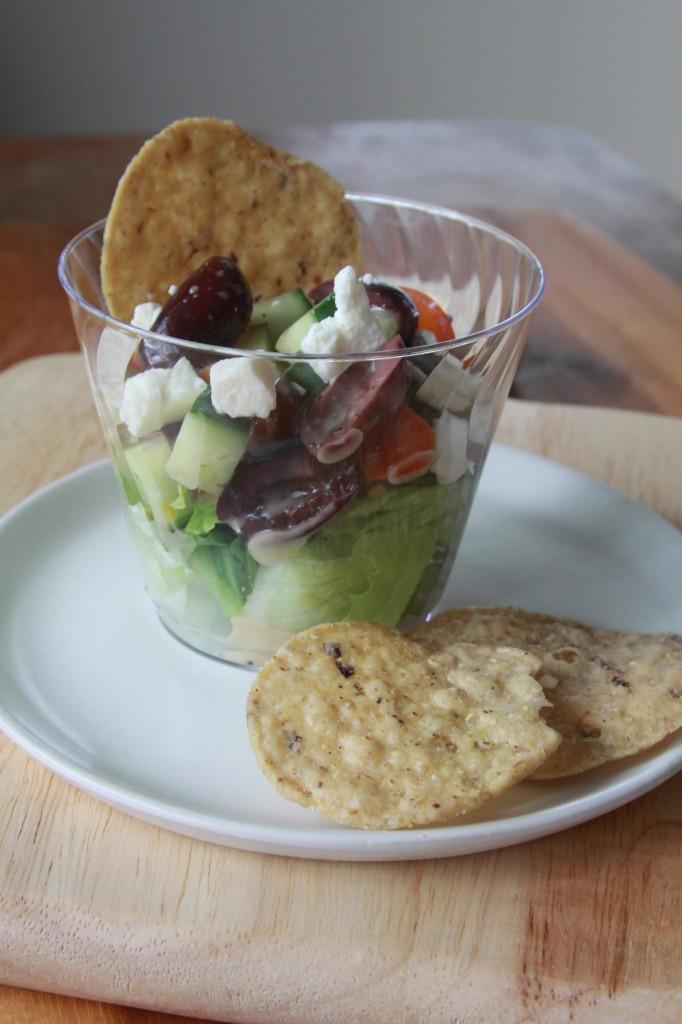 Greek Salad Cups | Espresso and Cream
