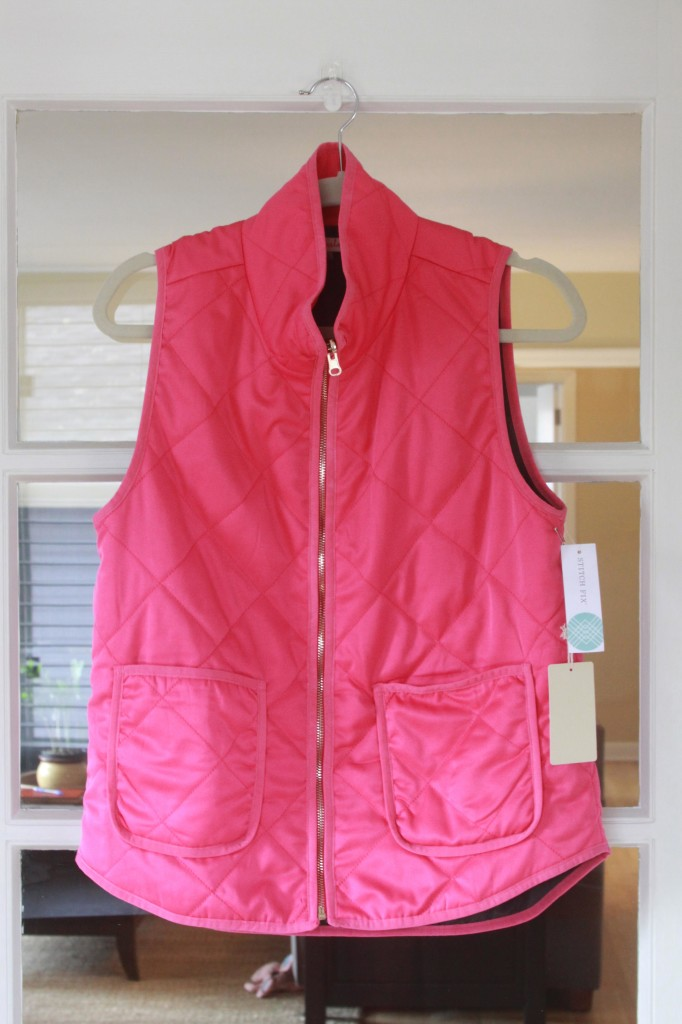 Pink Vest | Espresso and Cream