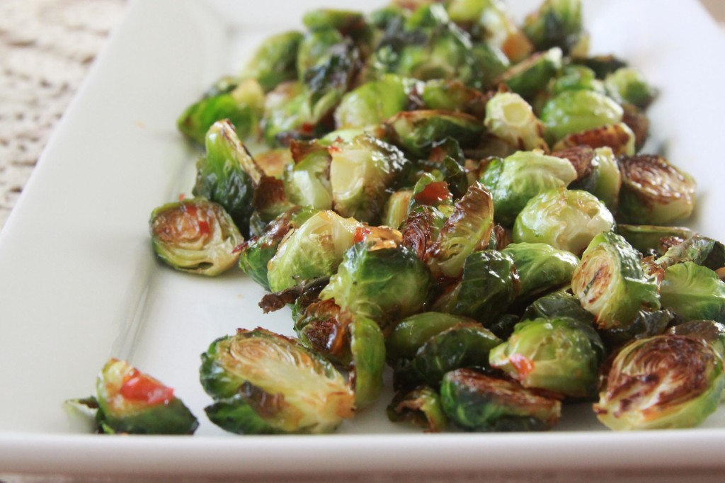 Sweet and Salty Roasted Brussels Sprouts | Espresso and Cream