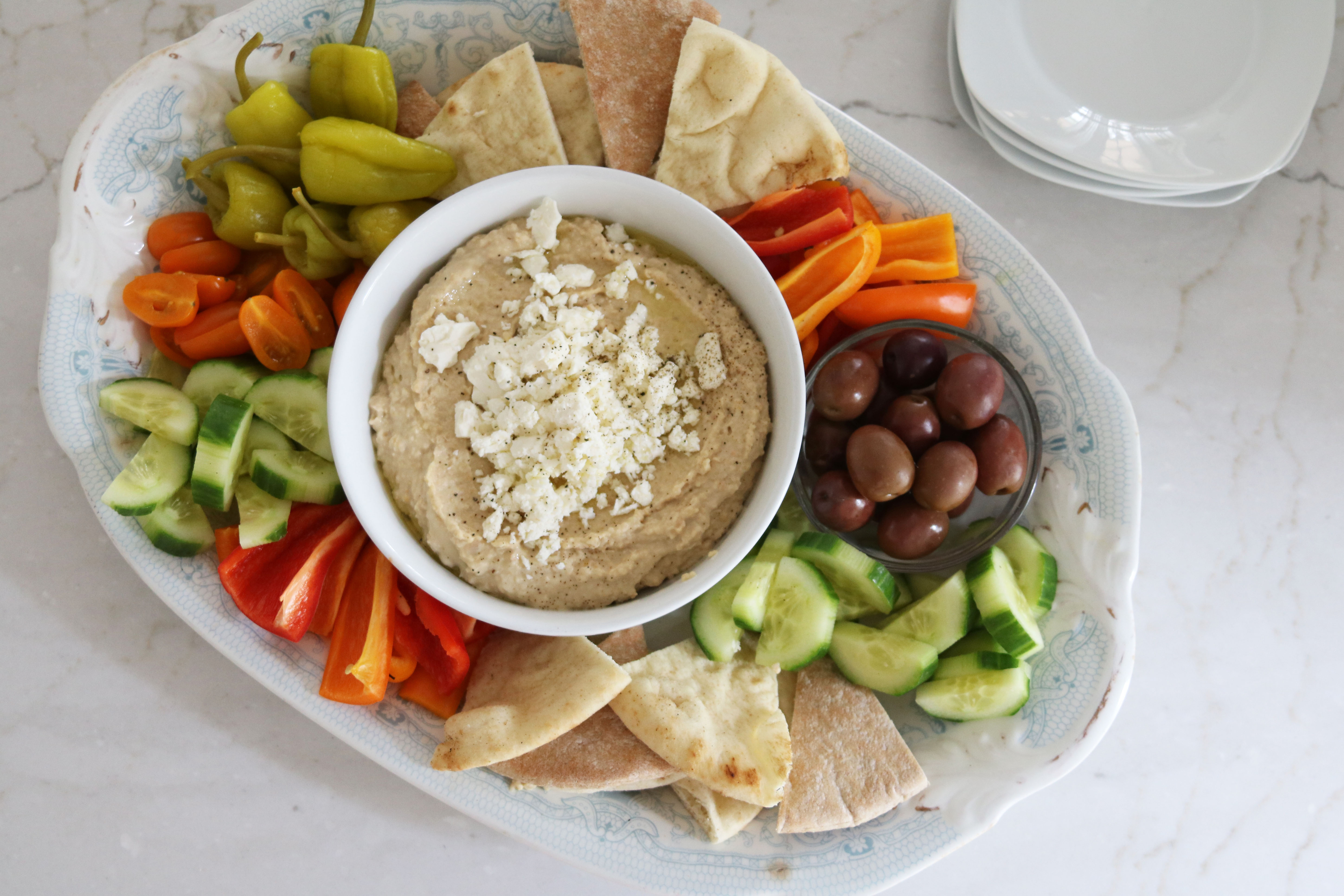 Hummus Platter Made Easy Espresso And Cream