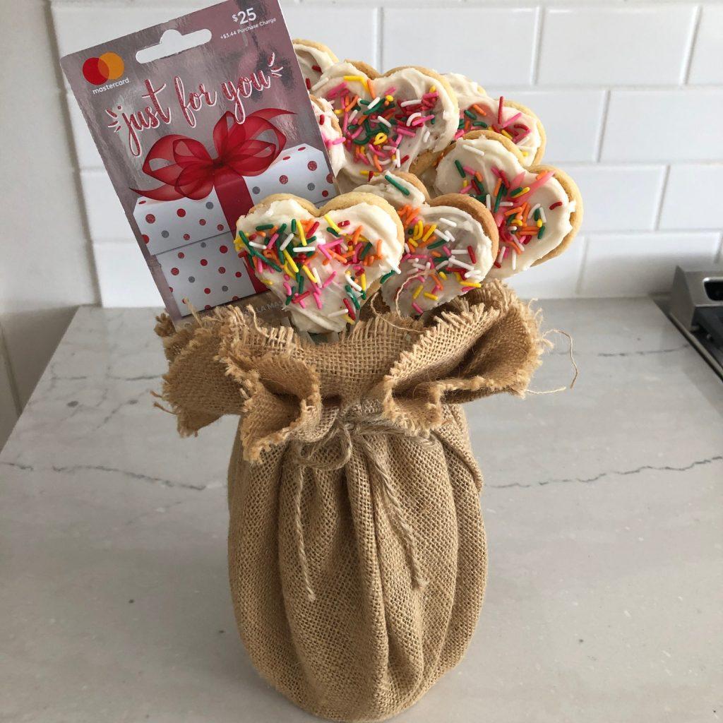Homemade Valentine's Cookie Bouquet